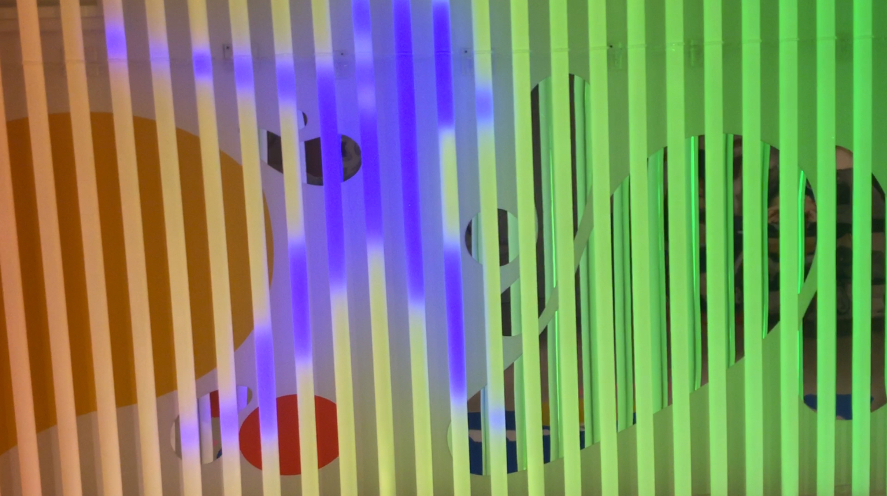 LED interactive installation for kids.